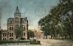 City Hall and North Park Postcard