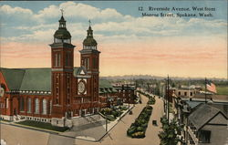 Riverside Avenue, West from Monroe Street