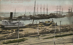 A Part of Los Angeles Harbor Postcard
