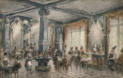 Interior of Tea Room, The White House