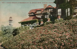 Floral Terrace at Residence of F.M. (Borax) Smith