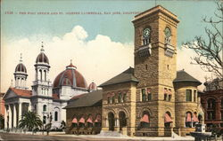 The Post Office and St. Josephs Cathedral Postcard