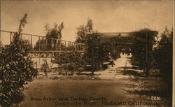 Rose Arbor and Tennis Courts, Granada Park