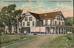 Burk's Sanatorium, On the Road to a Thousand Wonders Postcard