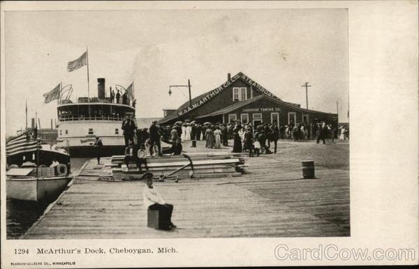 McArthur's Dock Cheboygan Michigan