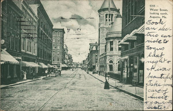Water Street, Looking North Augusta Maine