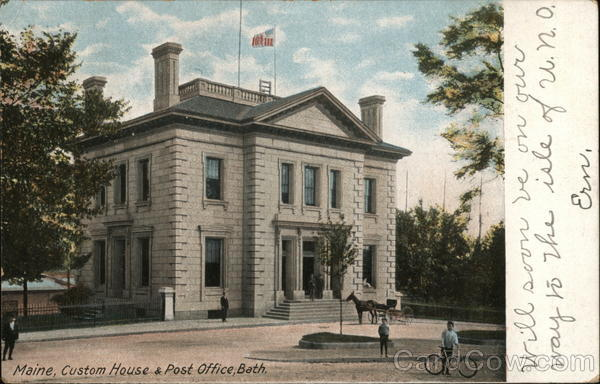 Custom House and Post Office Bath Maine