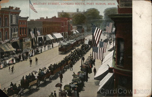 Military Street, looking South Port Huron Michigan