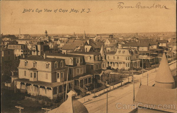 Bird's Eye View of Cape May New Jersey