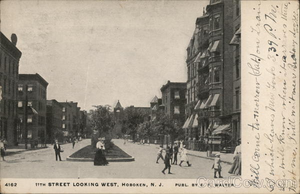 11th Street Looking WEst Hoboken New Jersey