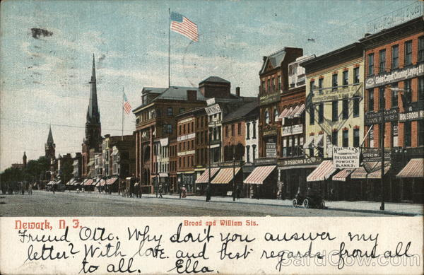 Broad and William Streets Newark New Jersey