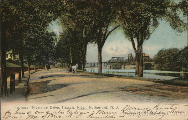 Riverside Drive, Passaic River Rutherford New Jersey
