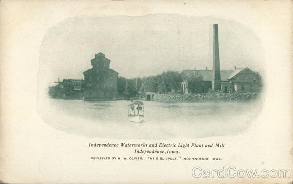 Independence Waterworks and Electric Light Plant and Mill Iowa
