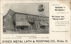 Sykes Metal Lath and Roofing Co. Postcard