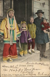 A Chinese Family Postcard