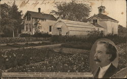 Luther Burbank House Postcard