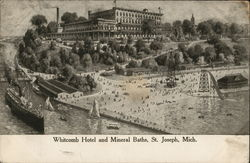 Whitcomb Hotel and Mineral Baths Postcard