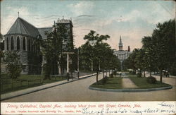 Trinity Cathedral, Capitol Ave., Looking West from 16th Street