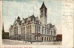 Post Office and Custom House Omaha, NE Postcard