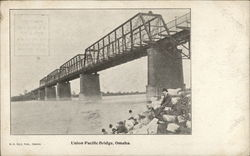 Union Pacific Bridge Omaha, NE Postcard