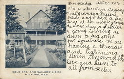 Soldiers' and Sailors' Home Postcard
