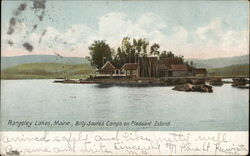 Rangeley Lakes, Maine., Billy Soule's Camps on Pleasant Island