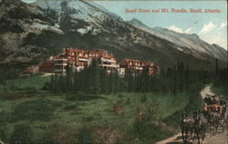 Banff Hotel and Mt. Rundle