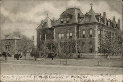 Ft. Worth University Postcard
