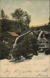Shady Glen Wood Turning Mill & Falls, Catskills Postcard