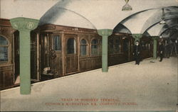 Train in Hoboken Terminal, Hudson & Manhattan R.R. Company Tunnel