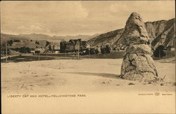 Liberty Cap and Hotel, Yellowstone Park