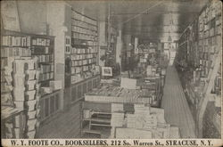 W.Y. Foote Co., Booksellers, 212 So. Warren St.