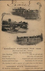 Ekwanok Country Club Schedule
