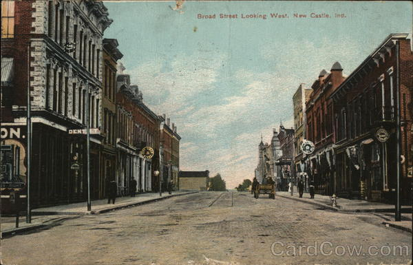 Broad Street Looking West New Castle Indiana