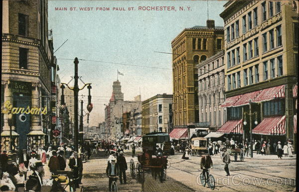 Main Street West From Paul Street Rochester New York