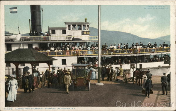 Landing From Steamer at Sagamore Lake George New York