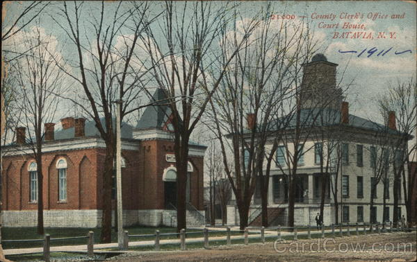 21000 - County Clerk's Office and Court House, Batavia, N.Y. New York