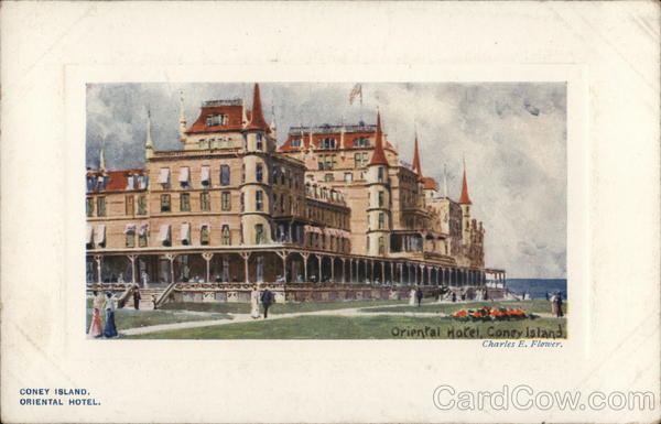 Oriental Hotel Coney Island New York Tuck's Oilette Series