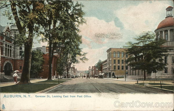 Genesee St., Looking East from Post Office Auburn New York