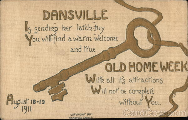Dansville Old Home Week New York Advertising