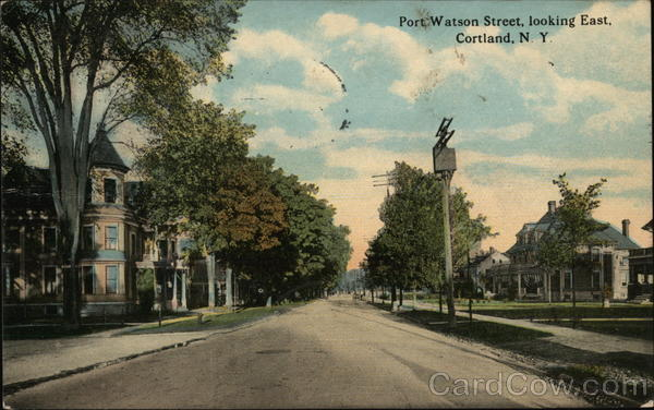 Port Watson Street, Looking East Cortland New York