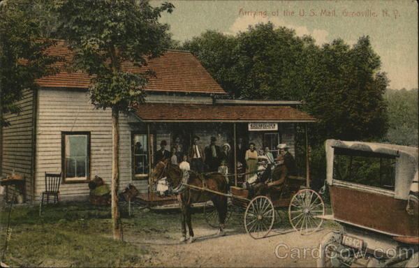 Arrival of the U.S. Mail Grooville New York