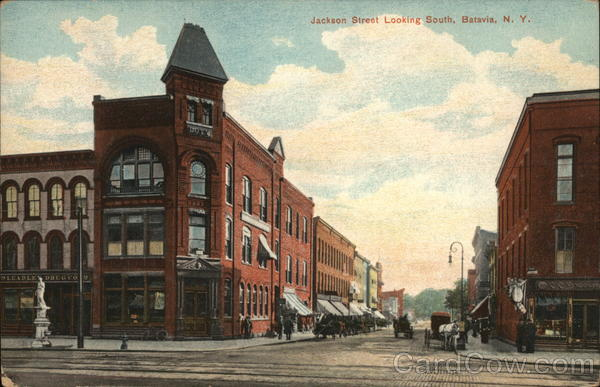 Jackson Street Looking South Batavia New York