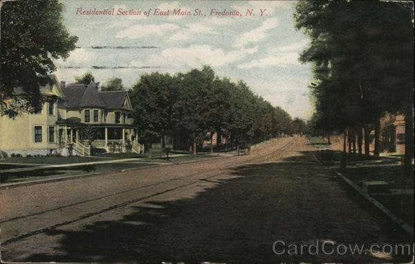 Residential Section of East Main St. Fredonia New York