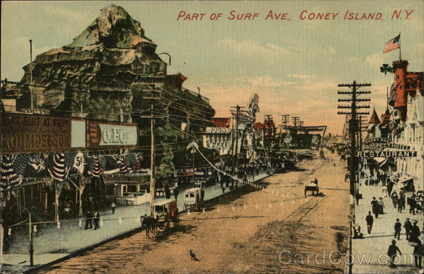 Part of Surf Avenue Coney Island New York
