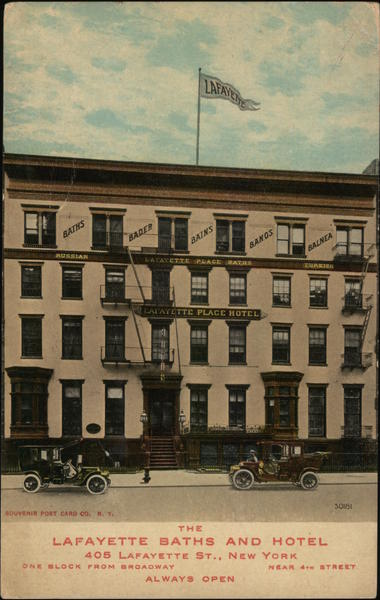 Lafayette Baths and Hotel New York