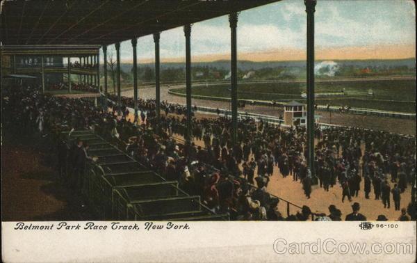 Belmont Park Race Track New York City Ny Postcard