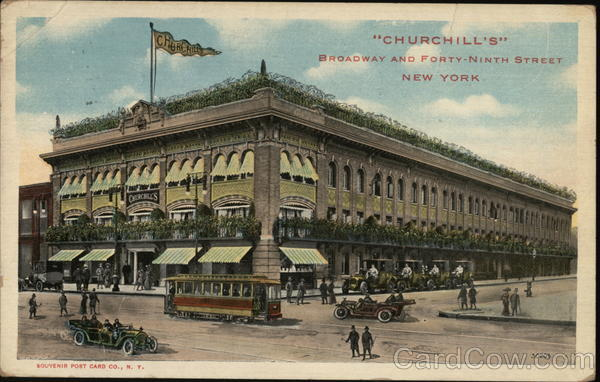 Churchill's Broadway and Forty-Ninth Street New York