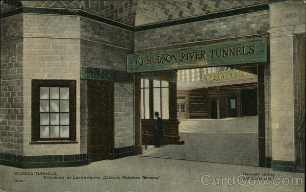 Hudson Tunnels. Entrance at Lockawanna Station Hoboken New Jersey