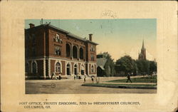 Post Office, Trinity Episcopal., AND 1st Presbyterian Churches